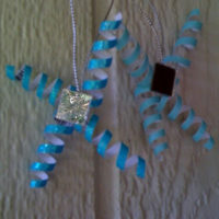 Blue and Silver Christmas – Day 9 – Corkscrew Ornaments