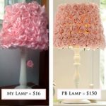 Pottery Barn Flower Lamp Knock off