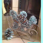 Blue and Silver Christmas Day 2 – Giltter Pine Cones