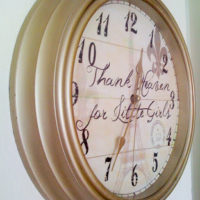 Girls' Room – Project 3 – Shabby Chic Parisian Clock (AND Freebie!)