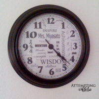 Personalized Teacher Subway Art Clock – free download