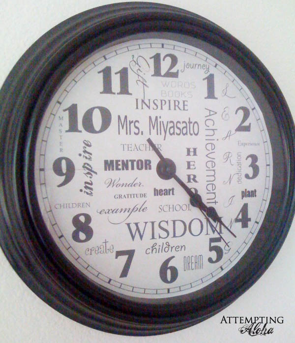 teacher subway art clock