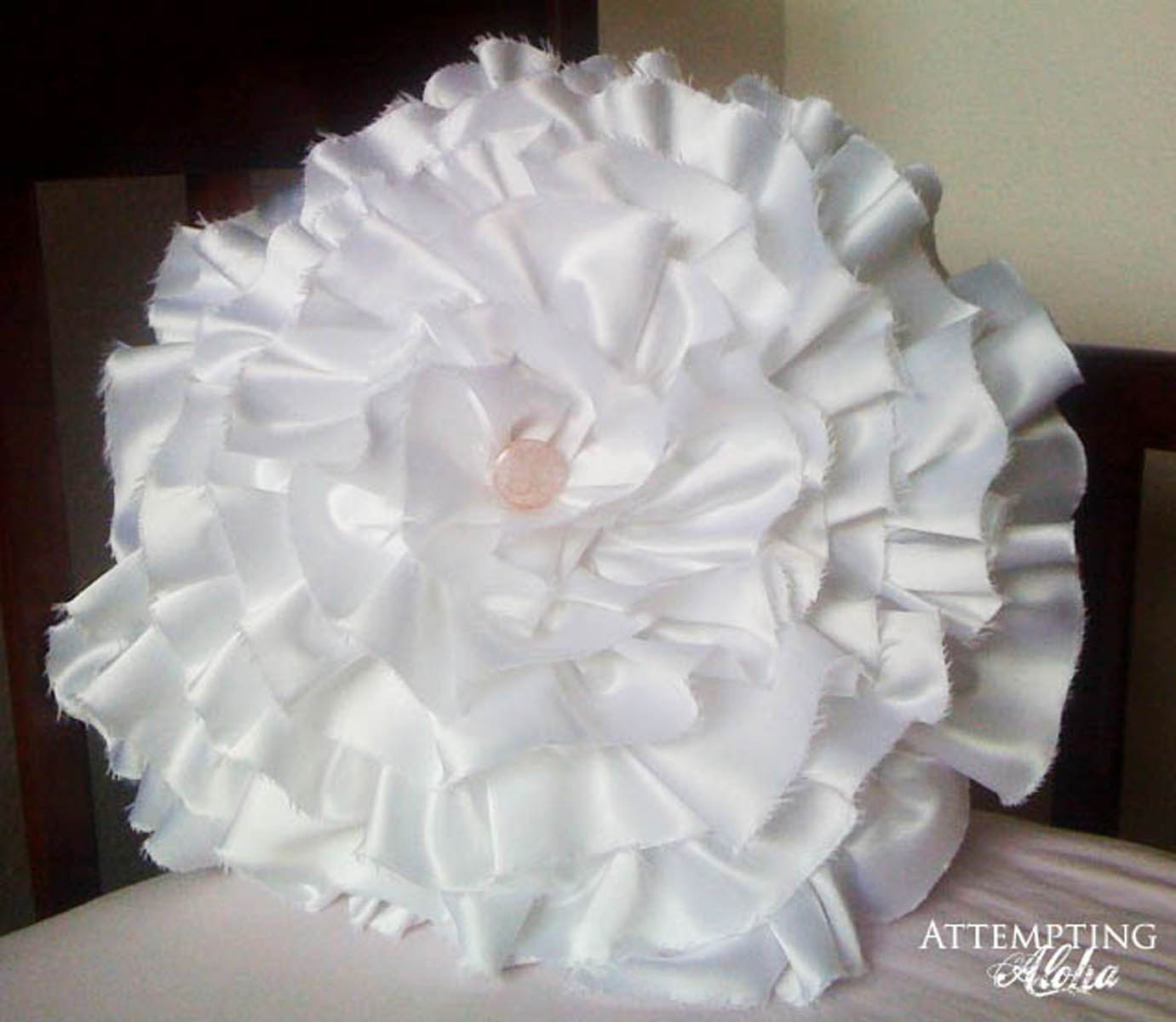 How to Make a Flower Pillow from a Wedding Dress
