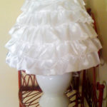 How to make a ruffled fabric lamp
