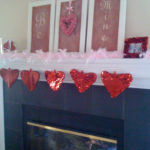 My Valentine's Mantel and… Heart-shaped Stockings??