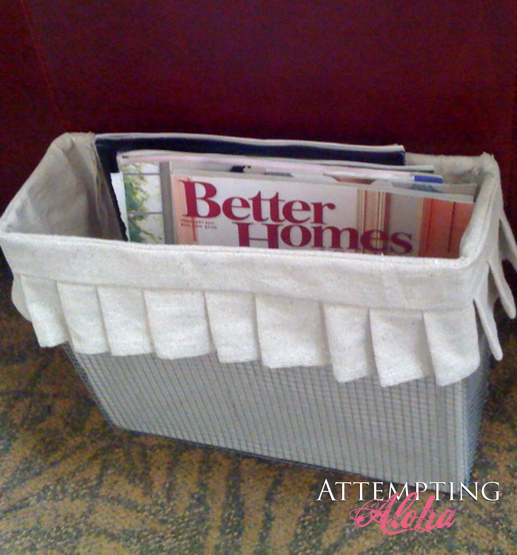 Pottery Barn Inspired DIY Wire Wall Basket