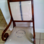 postage stamp reupholstered dining chairs