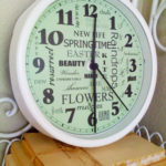 Spring Subway Art Clock – Free Printable!