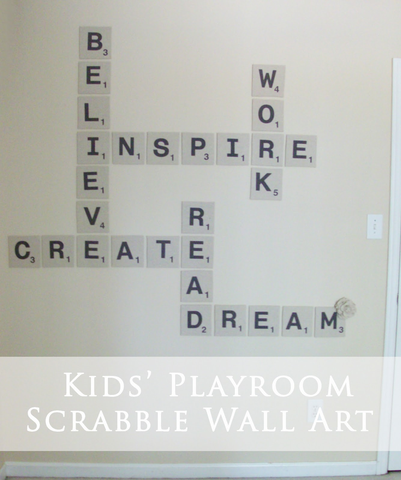 DIY Scrabble Wall Art