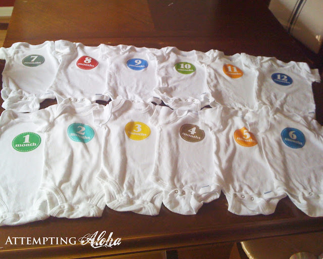 Free printable for baby monthly onesies