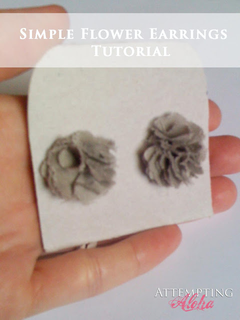DIY Flower Earrings Tutorial