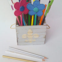 A Spring Bouquet (( And a DIY Popsicle Stick Crate))
