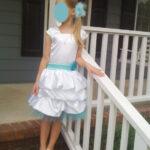 Blue and White Baptism Dress