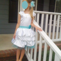 Blue and White Baptism Dress