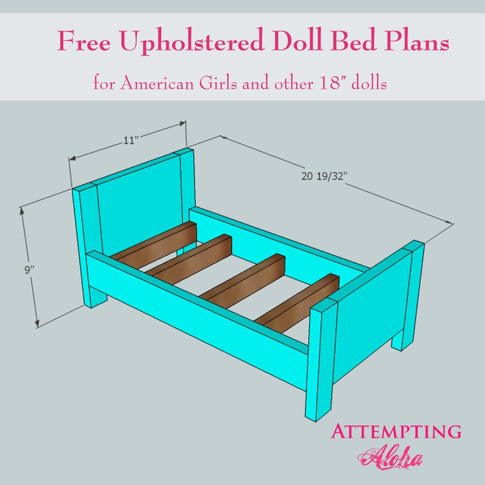 Picture of: Upholstered American Girls Doll Bed Plans