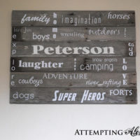 Barn Wood Subway Art Sign