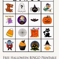 Free – Halloween BINGO Printable for Little Kids