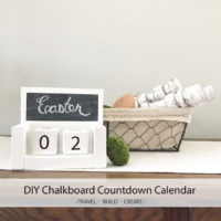 DIY Chalkboard Countdown Calendar Blocks
