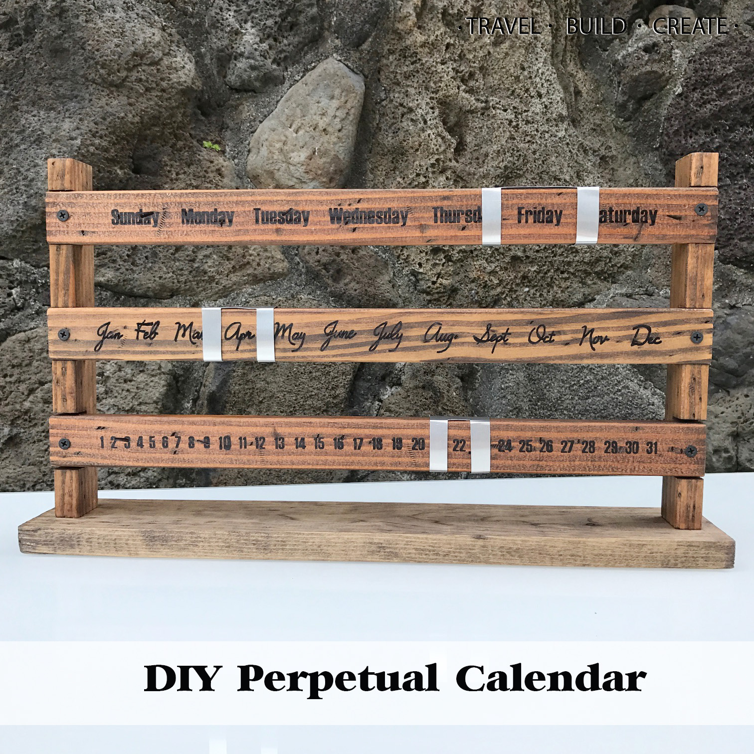 How To Make A Perpetual Calendar | Diy Perpetual Calendar Sliding Wood Calendar Tutorial