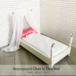 Repurpose a chair into a doll bed