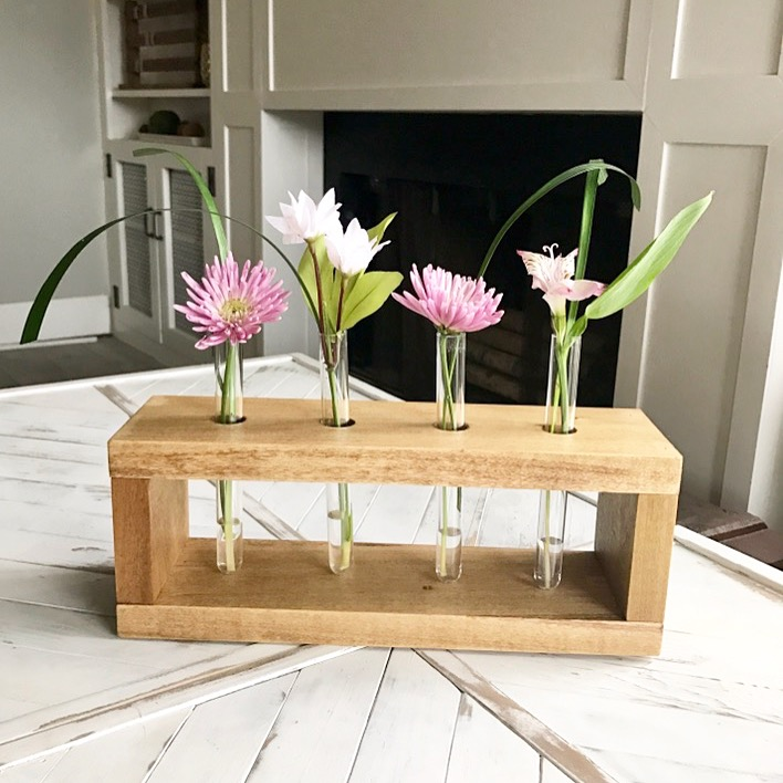 Diy Test Tube Vase Stand Beginner Woodworking Project