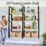 DIY Floating Ladder Shelves